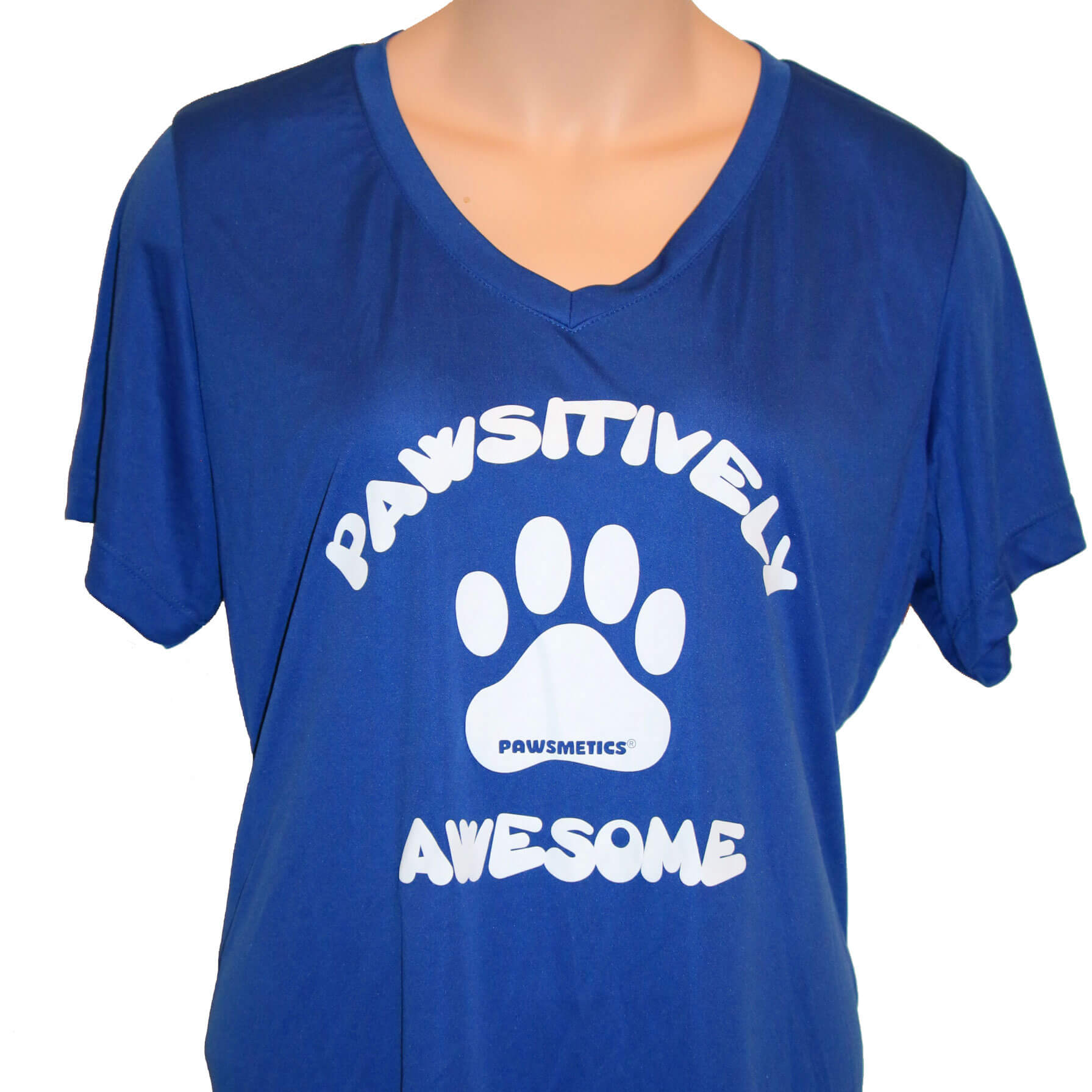 Tshirt Pawsitively Awesome Royal Blue